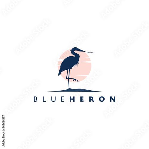 heron design logo concept Fototapeta