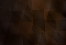 Dark Brown Vector Abstract Polygonal Template.