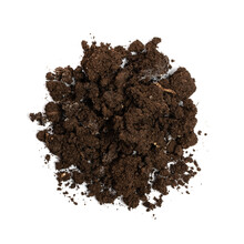 Fertilized Dry Dirt Isolated, Dried Ground, Manure Soil