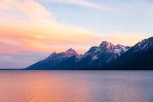 Sunrise Over The Tetons
