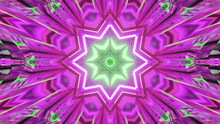 3D Rendering Of A Luminous Neon Pink Explosion In The Shape Of A Star With Blurry Edges