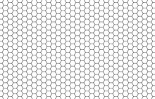 Honey Hexagon Bee Hive Honeycomb Pattern Seamless Black And White Background Vector
