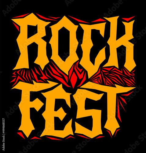 Fotografie, Obraz Hardcore Rock Fest Post design template Metal Festival post.