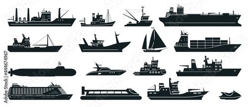Fotografie, Obraz Ships silhouette
