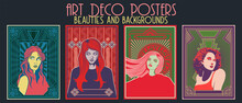 Art Deco Posters, Beauties And Backgrounds, Psychedelic Color Combinations