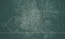 Sea Life Line Icon. Stone Material Grunge Texture