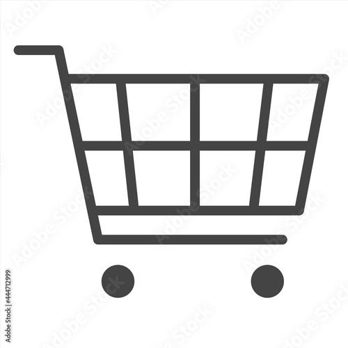 Tela shopping cart icon on white background