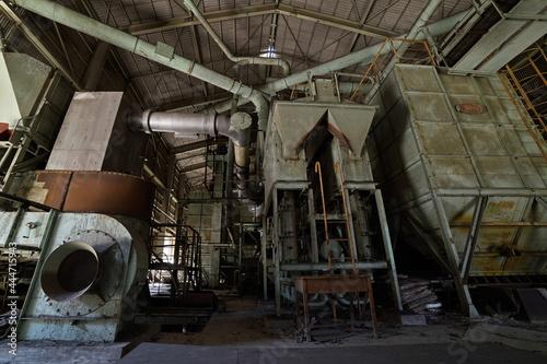 工場の廃墟 Fototapeta
