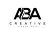 Letter ABA creative logo design vector