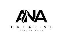 Letter ANA Creative Logo Design Vector
