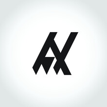 Letters A And N Monocrom Logo, Suitable For Use As The Initials Of The Logo Of Mr. A N