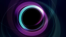Rings Light Neon In Space