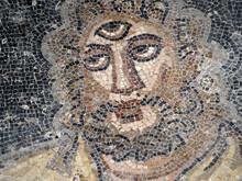 Ancient Roman Mosaic Of Villa Del Casale, Sicily Polyphemus And Ulysses