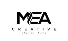 Letter MEA Creative Logo Design Vector