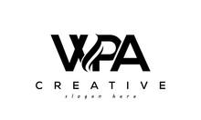 Letter WPA Creative Logo Design Vector