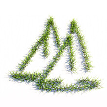 Concept Or Conceptual Green Summer Lawn Grass Isolated On White Background, Sign Of Two Yachts. A 3d Illustration Metaphor For Nautical Sport, Competition, Travel, Adventure, Recreation And Lifestyle