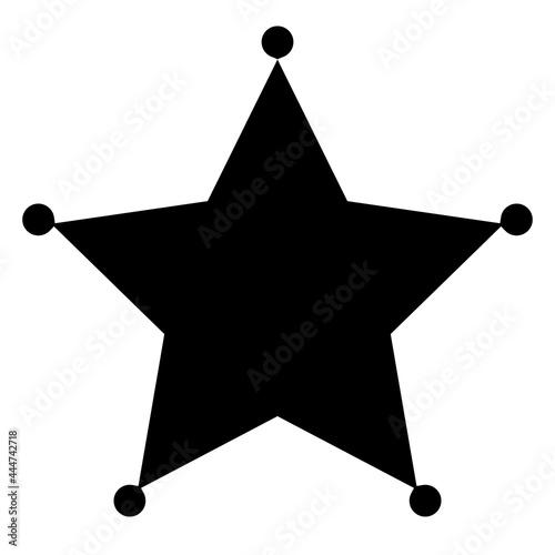 Fotografering Sheriff's badge, star icon, design element. Deputy, police bade