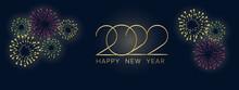 Happy New Year 2022, Realistic Vector Illustration