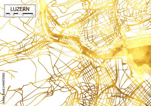 Fototapeta Map of Luzern Lucerne