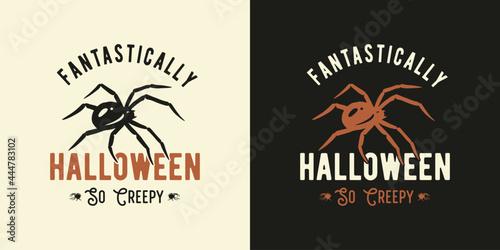 Fotografiet Spider halloween for t-shirt halloween print