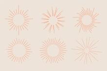 Linear Flat Sunbursts Collection_2
