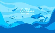 World Oceans Day Concept Illustration