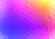 Multicolor Geometric Rumpled Triangular Low Poly Origami Style Gradient Illustration Graphic Background. Vector Polygonal Design For Your Business. Rainbow, Spectrum Image.