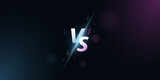 Versus background. VS screen for sport games, match, tournament, e-sports competitions, martial arts, fight battles. Light effect with cartoon lightning. Game concept. Vector