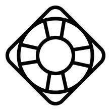 Lifebuoy Icon Outline Vector. Safety Buoy Ring. Rescue Lifebuoy