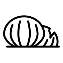 Sea Shell Icon Outline Vector. Beach Scallop.Marine Ocean Seashell