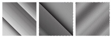 Set Of Diagonal Oblique Edgy Lines Pattern In Vector