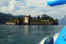 Isola Bella, Lake Maggiore, Italy. Boat Trip On Lake Maggiore And Isola Bella One Of The Most Popular Tourist Attractions In The Lake Area Of Northern Italy.