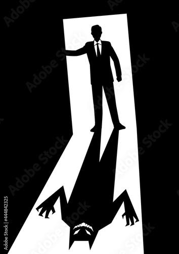 Murais de parede ドアを開ける男性ビジネスマン②
