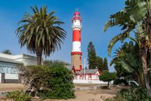 Historical Landmark Swakopmund Lighthouse, Built During The German Colonial Period In Swakopmund, Erongo Region, Namibia.