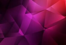 Dark Purple, Pink Vector Shining Triangular Layout.