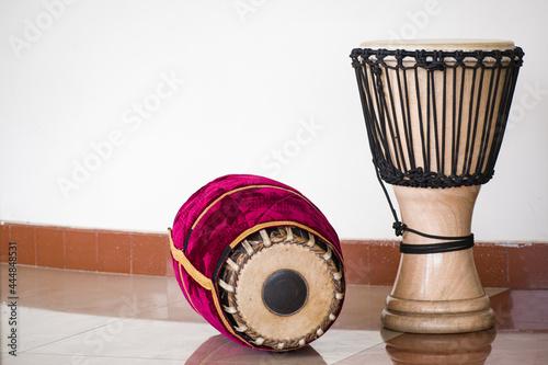 Fotografie, Obraz The percussion instruments mridangam and djembe