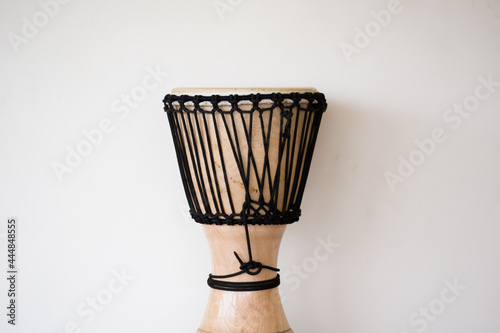 A djembe or jembe is a rope tuned skin covered goblet drum played with bare hand Fototapete