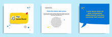 Social Media Tutorial, Tips, Trick, Did You Know Post Banner Layout Template With Torn Sticky Paper Note Clips Pin Design Element And Seamless Line Pattern Background.