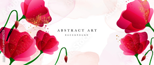 Photo Abstract art flower background vector