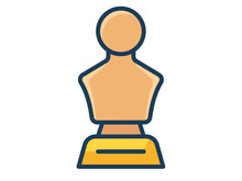 Statue Honor Single Isolated Icon With Filled Line Style