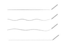鉛筆で描いたアンダーラインセット 手描き風