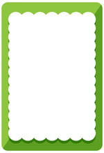 Empty Green Curl Frame Banner Template