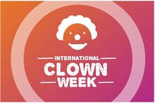 International Clown Week Vector Illustration