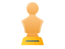 Statue Honor Single Isolated Icon With Smooth Style