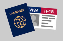 USA Viza H-1B. Visa In The United States Temporary Work For Foreign Skilled Workers In Specialty Occupation.