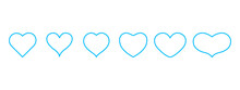 Heart Icons Set Vector.