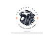 Vintage Retro Angry Lion Head Badge Emblem Logo Design Vector