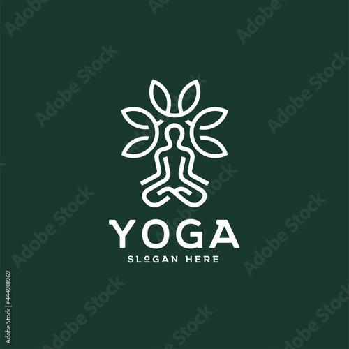 Vászonkép Nature Yoga Logo