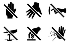 Please Do Not Touch Sign Icon
