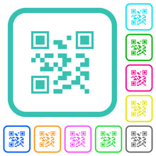 QR Code Vivid Colored Flat Icons